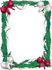Vertical Christmas Tree  Frame Red and White Bows