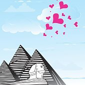 Pyramid sphinx sphinks objects as travel love