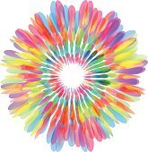 Colorful abstract flower icon, design element