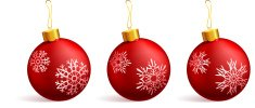 Red Christmas Ornament with original snowflake designs