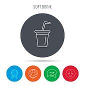 Soft drink icon. Soda sign.