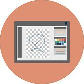 Photoshop Colored Vector Illustration