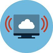 Screen Cloud Colored Vector Illustration