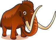 Brown Mammoth showing trunk and tunk