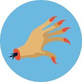 Ghost Hand Colored Vector Icon