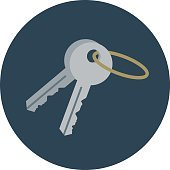 Keys Colored Vector Icon