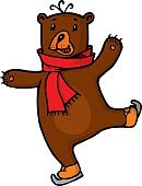 Bear in red scarf
