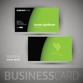 Business Card Template With Sample Texts