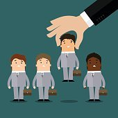Human resources concept, hiring or recruitment
