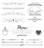 Calligraphic Design Elements and Decorations