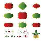 Blank christmas labels and element design