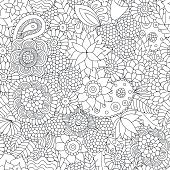 Doodle pattern black and white