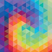 Colourful cube abstract background - Illustration