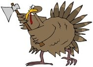 Angry Turkey With An Axe