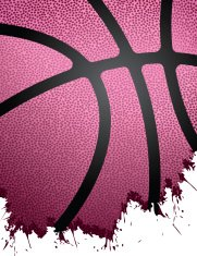 Grunge Basketball Background - Pink