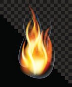 drop fire flame torch burning smoke translucent transparent