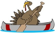 Turkey In A Canoe