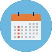 Calendar Colored Vector Illustration