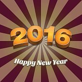 Happy New Year 2016 Wallpaper Design