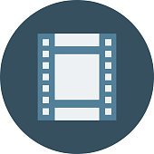 Film Strip Colored Vector Illustration