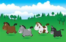 Mini Ponies and Donkey–Summer
