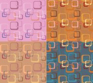 Retro Mixed Cubes Pattern
