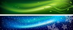 Spring and winter banners