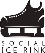 vector illustration concept of social ice rink
