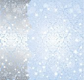 Shiny blue christmas winter Snowflake vintage background