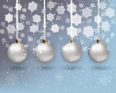 xmas background with balls