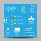 vector abstract  template infographic and icon technology innovation concept
