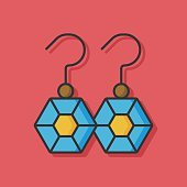 accessory earring jewelry icon