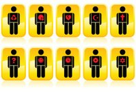 Yellow Button Icon People