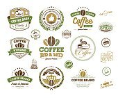 Coffee label and coffee badges vector
