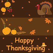 Happy Thanksgiving holiday greeting card