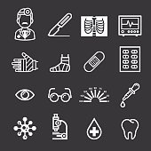 Medicine and Health icons.
