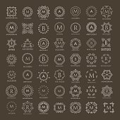Monogram collection for design projects