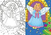 Coloring Book Of Christmas Angel
