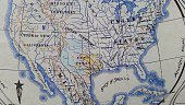 Old Antique Map of The United States of America