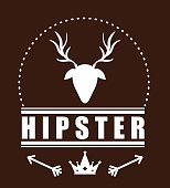 Hipster retro and vintage