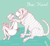 Friendship Girl and Dog