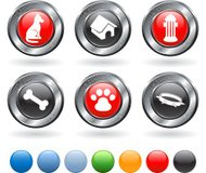 man's best friend royalty free vector icon set