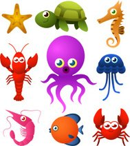 Sea Life animal species icons
