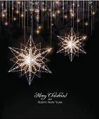 Elegant Snowflakes decoration,Christmas card