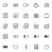 mobile application icon flat