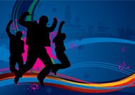 Teen party background