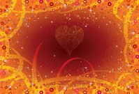 Background love curlicues