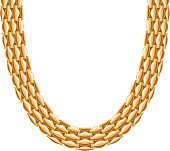Chunky chain golden metallic necklace or bracelet