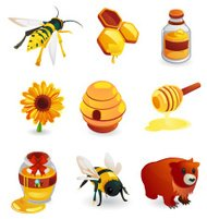 Bees and Honey Icon
