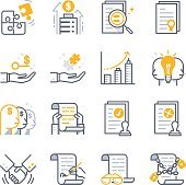 Business Contract Agreement icons